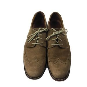 Johnston & Murphy suede tan wingtip oxfords sz 12M